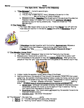 The Odyssey Guided Note Activity