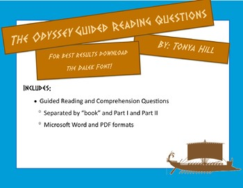 The Odyssey Guided Reading Questions