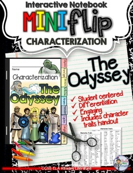 THE ODYSSEY CHARACTERIZATION FLIP BOOK