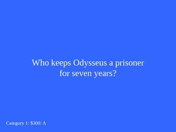 The Odyssey Jeopardy Game