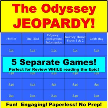 The Odyssey Jeopardy: JUMBO: 5 Jeopardy Power Points