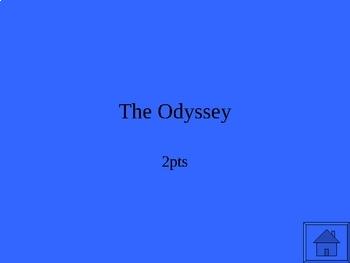 The Odyssey Jeopardy JUMBO:  5 Jeopardy PowerPoints