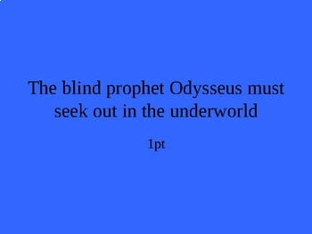 The Odyssey Jeopardy: Part 3, The Sirens, Scylla and Charybdis
