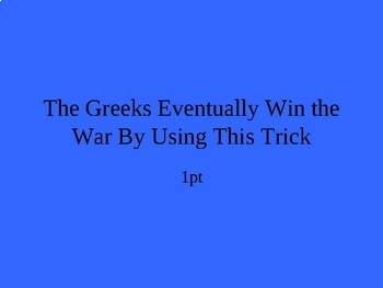 The Odyssey Jeopardy PowerPoint: Part V: The Entire Epic