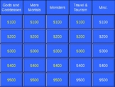 The Odyssey Jeopardy Study Guide Review Game