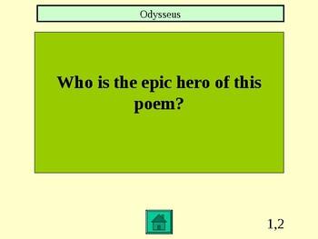 The Odyssey Jeopardy game