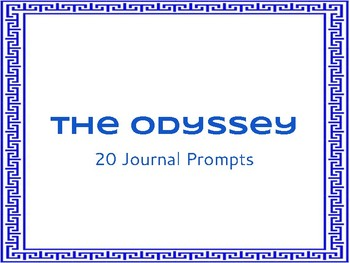 The Odyssey Journal Prompts