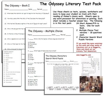 The Odyssey Literary Test Pack  -- Home
