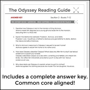 The Odyssey Literature Guide for Books 7-12