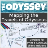 The Odyssey Map Activity Detailing Odysseus' Travels, Perfect for High School