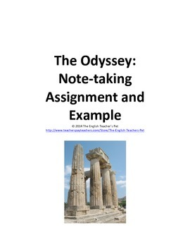The Odyssey Note Taking Assignment and Example