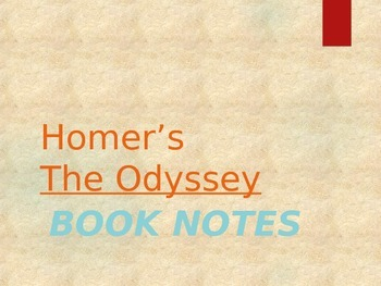 The Odyssey- Powerpoint Notes on Books 1-24