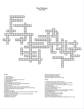 The Odyssey Part One Crossword