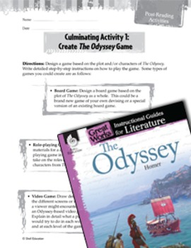 The Odyssey Post-Reading Activities