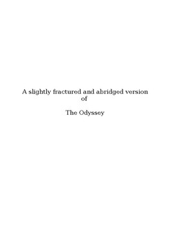 The Odyssey Reader's Theater Script