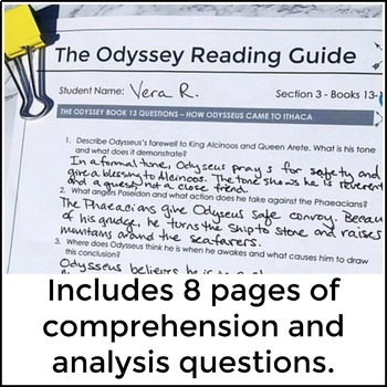 The Odyssey Reading & Analysis Guide for Books 13-18