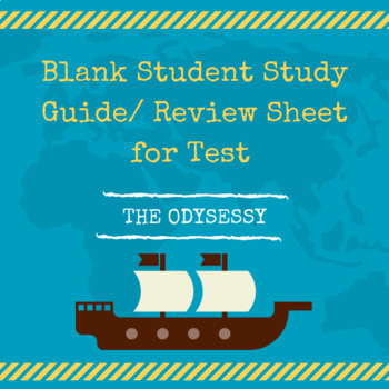 The Odyssey Review/ Test Study Guide