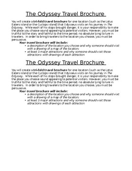 The Odyssey Travel Brochure Project