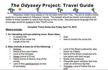 The Odyssey Travel Guide Project