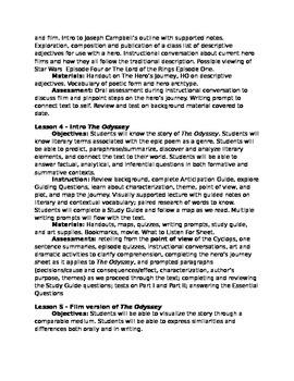 the odyssey unit plan