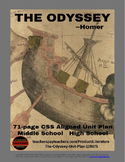 Literature - The Odyssey Unit Plan  Distance Learning