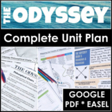 The Odyssey Unit Plan Bundle and Literature Guide for Print and Google Classroom
