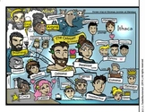 """""""The Odyssey"""" Visual Character Map! Book Web!  BW, Color,"""
