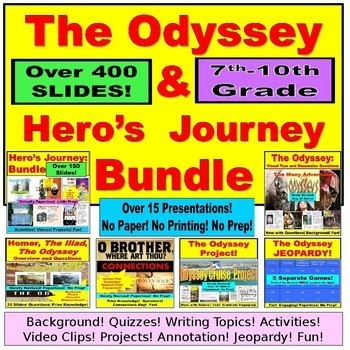 The Odyssey Bundle:  PowerPoint, Paperless, No Prep