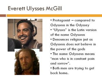 The Odyssey and O Brother Where Art Thou? - Comparison PowerPoint