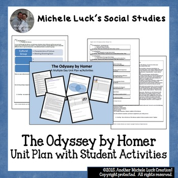 The Odyssey by Homer Unit Plan with Student Activities