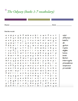 The Odyssey word search