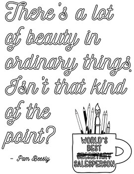The Office Inspired Coloring Pages Freebie