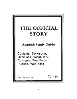 The Official Story-Spanish Study Guide