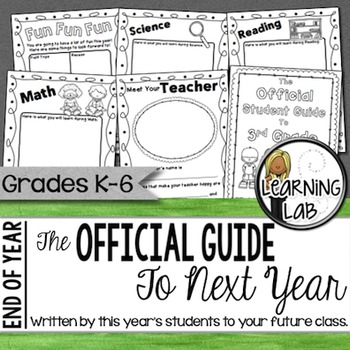 The Official Guide to Next Year - An End of Year Activity