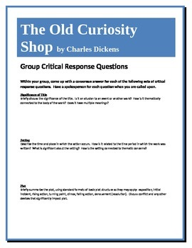 The Old Curiosity Shop - Dickens - Group Critical Response Questions
