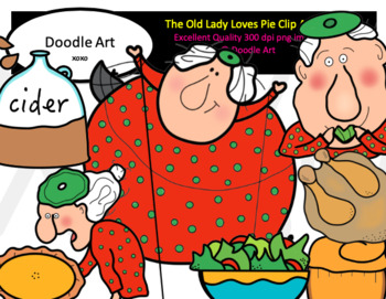 The Old Lady Loves Pie Clip Art Pack