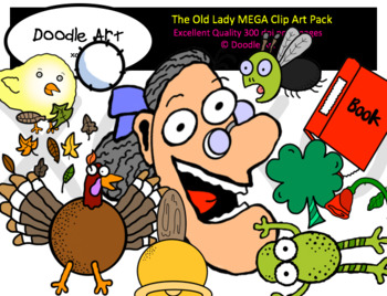The Old Lady MEGA Clipart Collection