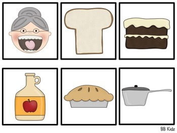 The Old Lady who Swallowed a Pie Sequencing booklet & Activities