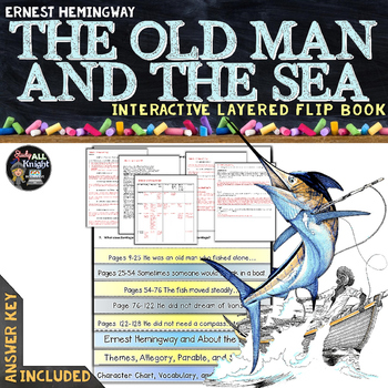 THE OLD MAN AND THE SEA NOVEL STUDY LITERATURE GUIDE FLIP BOOK