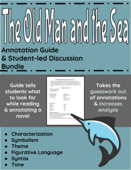 The Old Man and the Sea Annotation Guide and Student-led Discussion Bundle