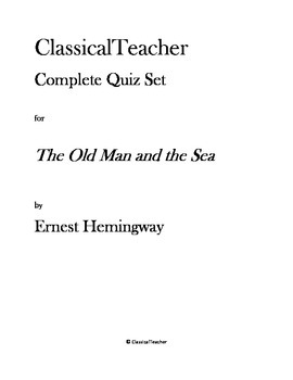 The Old Man and the Sea Complete Quiz Set