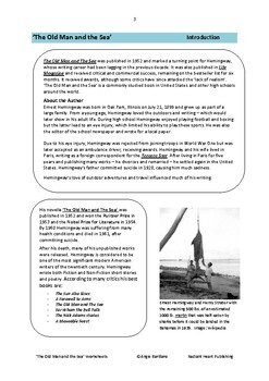 The Old Man and the Sea - Hemingway Worksheets