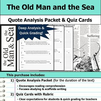 The Old Man and the Sea - Quote Analysis & Reading Quizzes