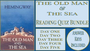 The Old Man and the Sea Reading Quiz Bundle