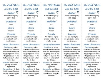 The Old Man and the Sea ed. of Bookmarks Plus—Fun Freebie & Handy Reading Aid!