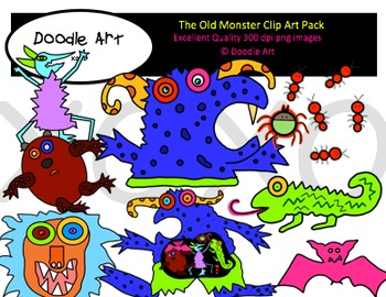 The Old Monster Clipart Pack