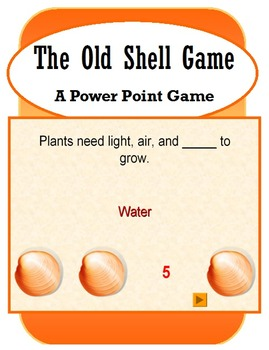 The Old Shell Game (PowerPoint Game Template)