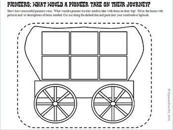The Old West Pioneers Interactive Notebook and Lapbook Activities with Test Prep