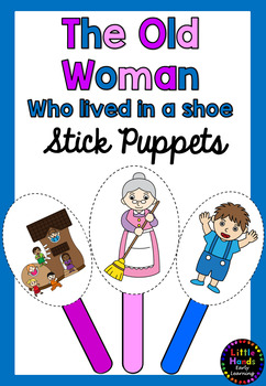 The Old Woman who lived in a Shoe Nursery Rhyme Puppets