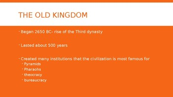 The Old and Middle Kingdoms of Egypt Powerpoint